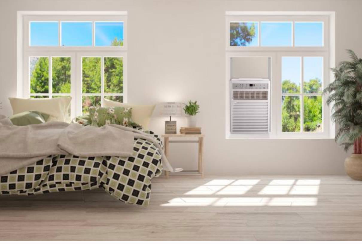 vertical air conditioner in window