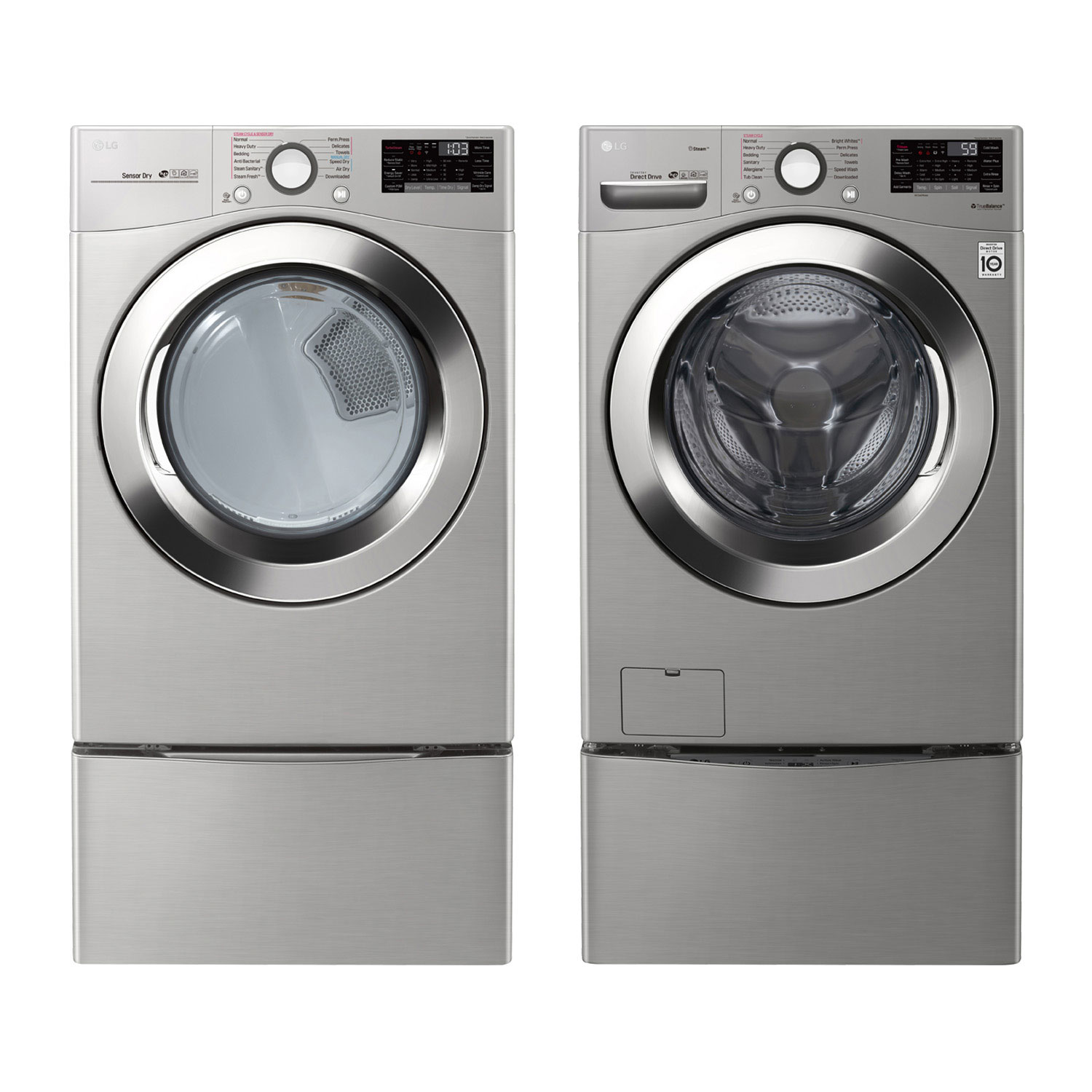 lg front load steam washer