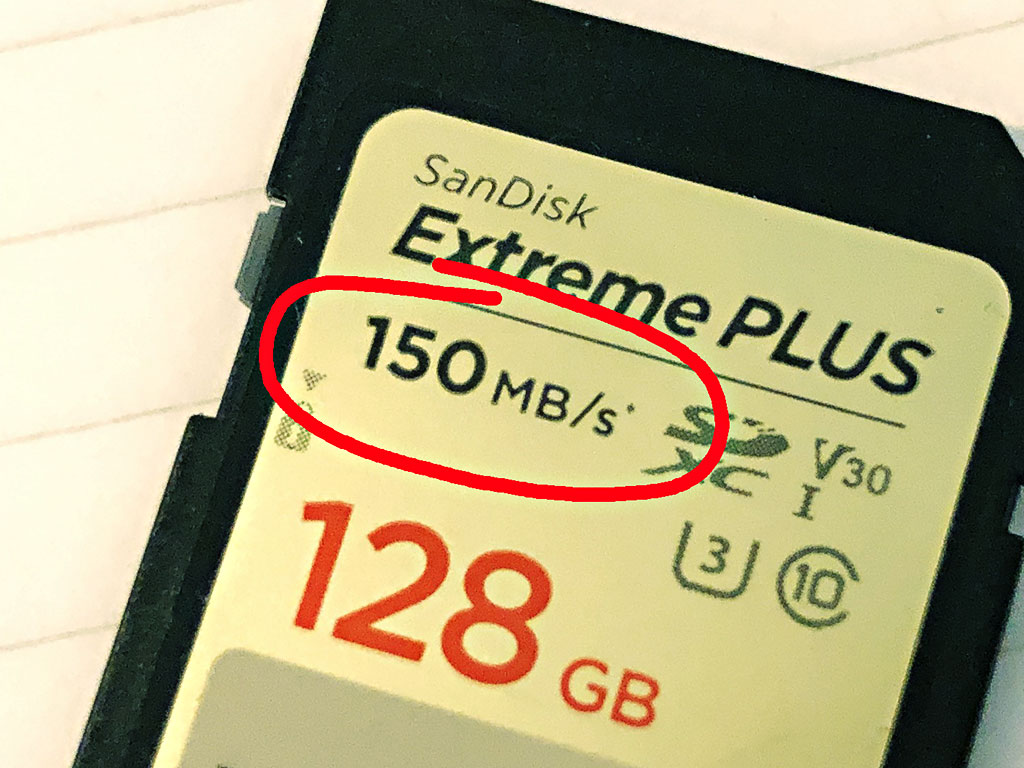 A photo of a SanDisk memory card