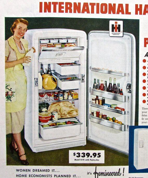 upgrade your fridge retro ad