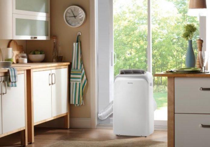 portable air conditioner in kitchen