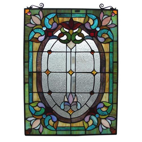 Fine Art Lighting Tiffany Stained Glass Window Panel (.jpg