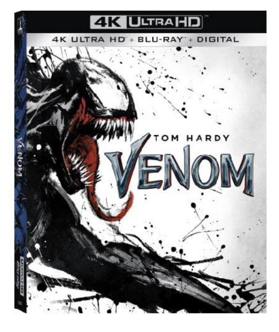 4k Blu Ray Disk Movie Cover - Venom by Tom Hardy