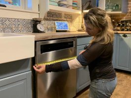 How to measure rough opening new dishwasher