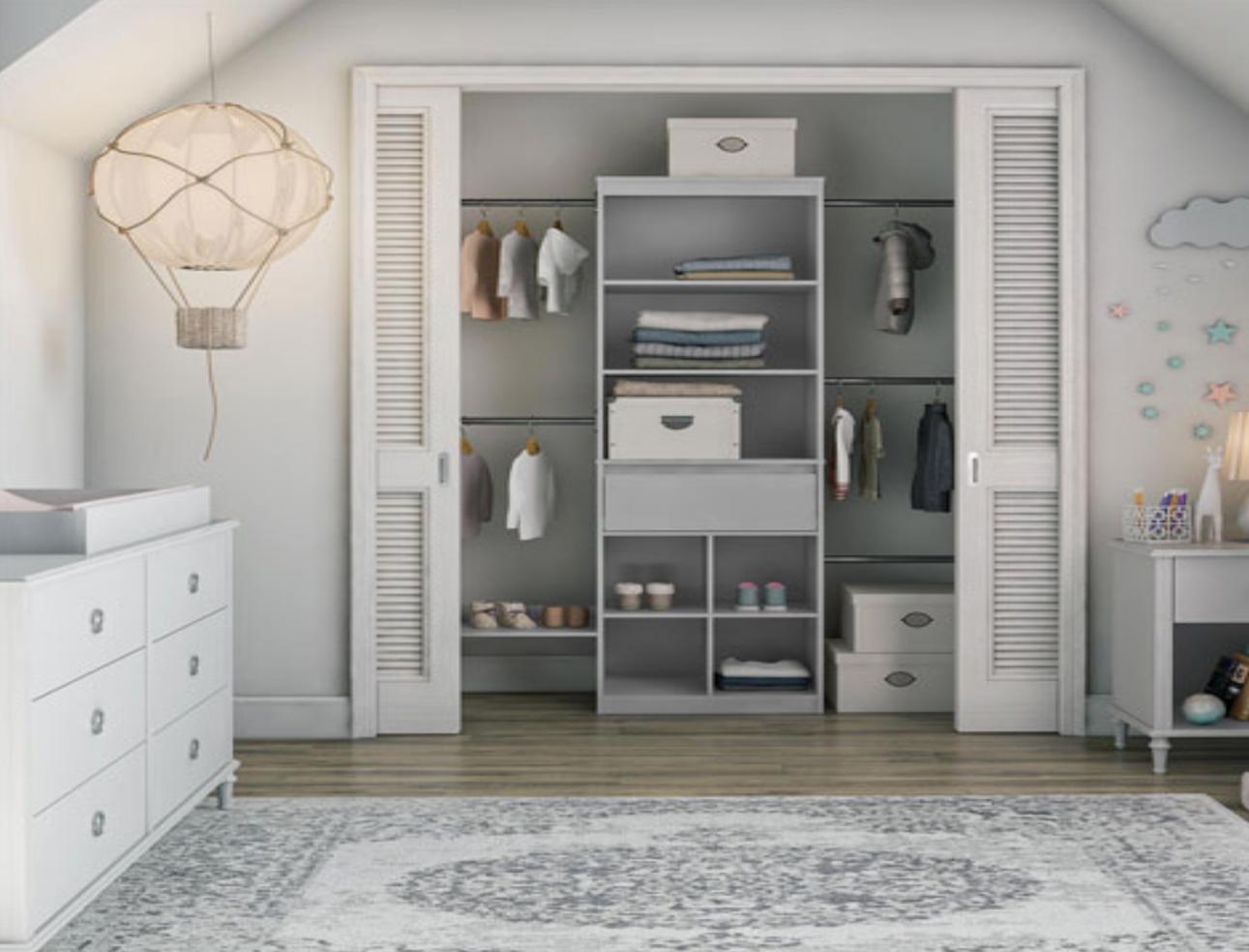 Nursery closet organizer