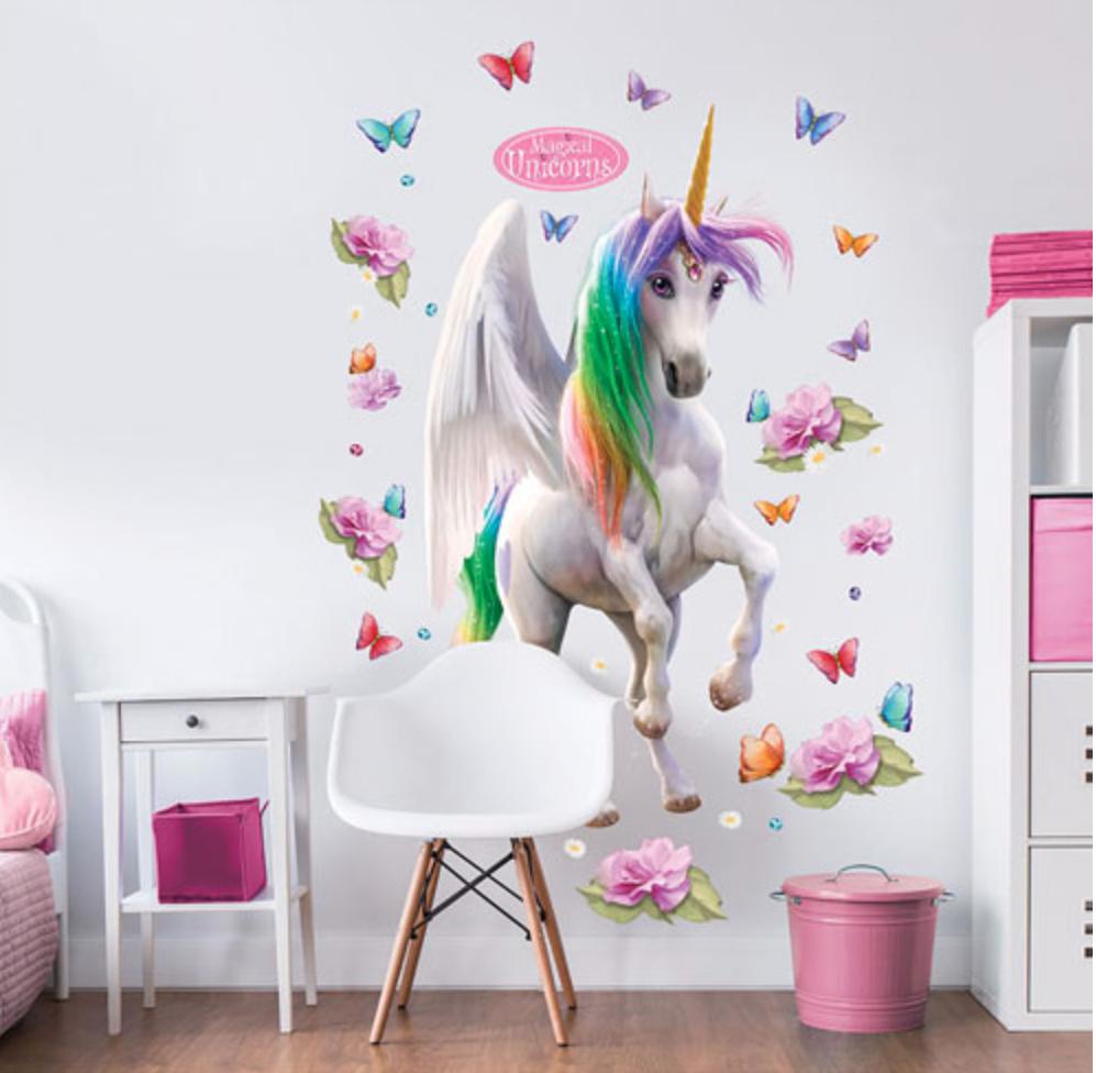 Unicorn wall decal for nursery