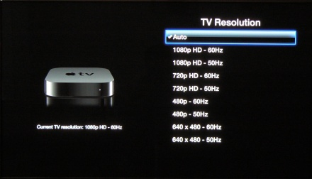 how to change the resolution on tv