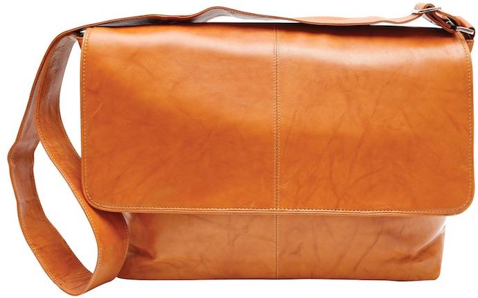 Ashlin leather messenger bag
