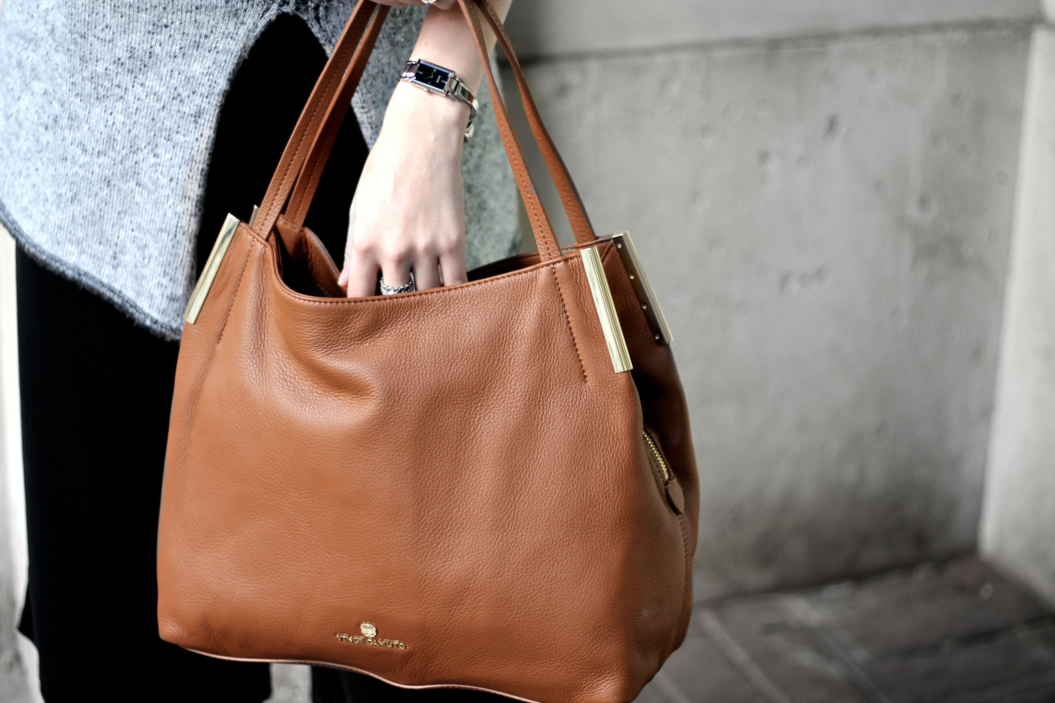 75fdd8dfb30 How To Mix Neutrals For Fall ft. The Vince Camuto Tina Handbag ...