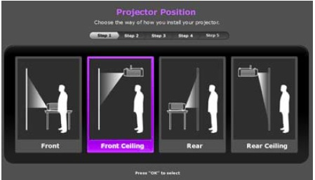 Projector Positions