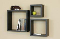 nexxt cubbi 3 piece wall shelf