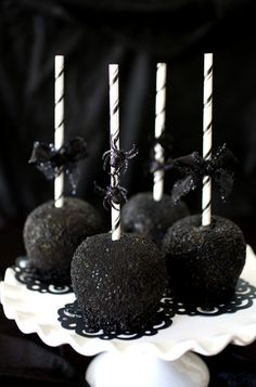 martha stewart's black candy apples