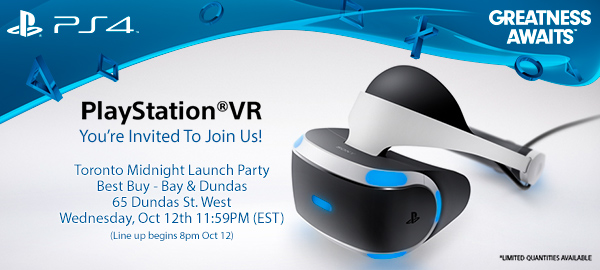 6eaeab363c61 PlayStation VR launch events at Best Buy stores in Toronto and Vancouver