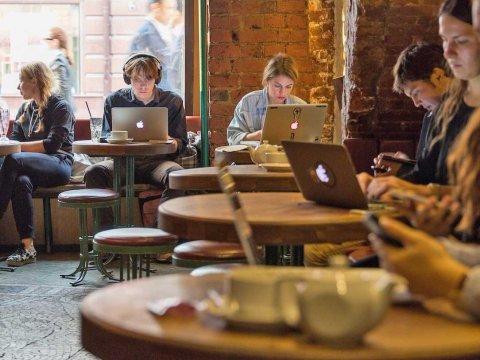 Výsledek obrázku pro work in cafe