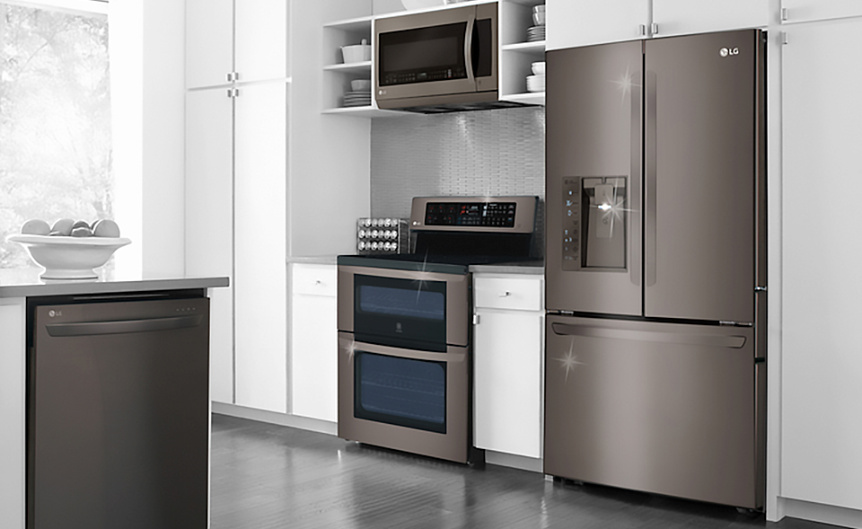 Black stainless steel appliances are a kitchen must have for Frigidaire armoire