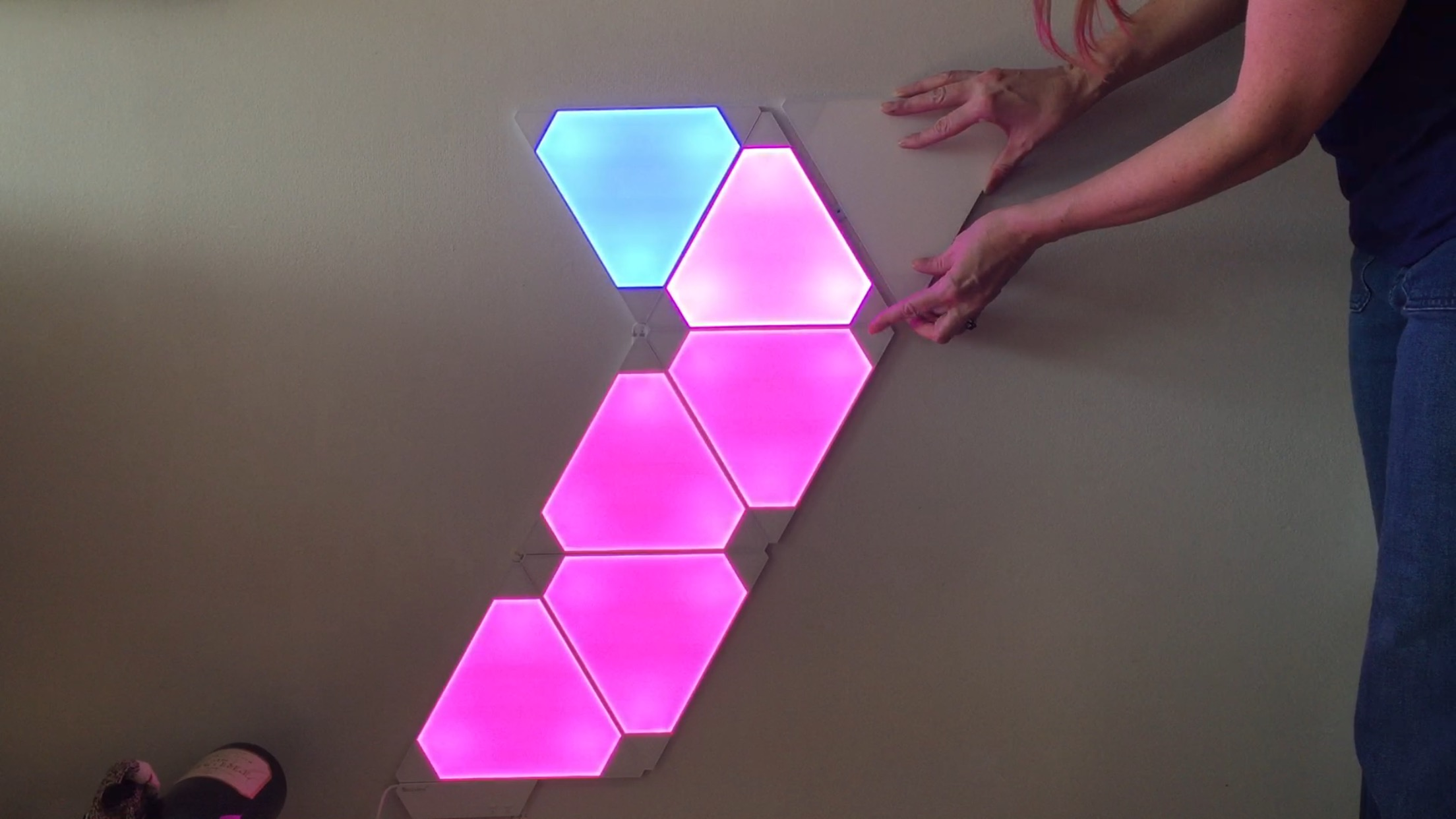 Nanoleaf Aurora Reviewing A Whole New Way To Light Best Buy Blog Led Color Changing Circuit Board Boardsled Aurora2