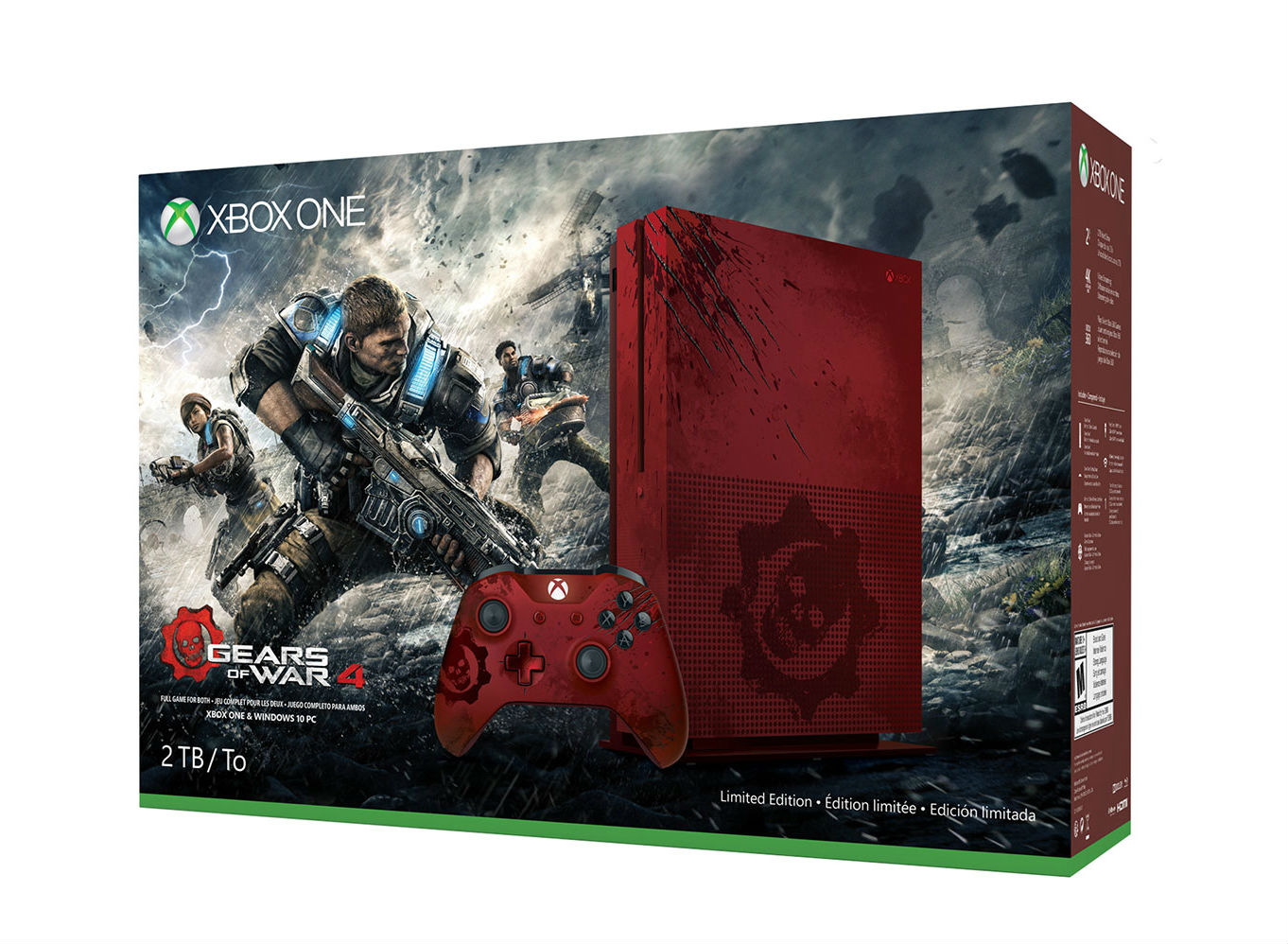 Xbox One S Gears Of War 4 Console Bundle Unboxing And