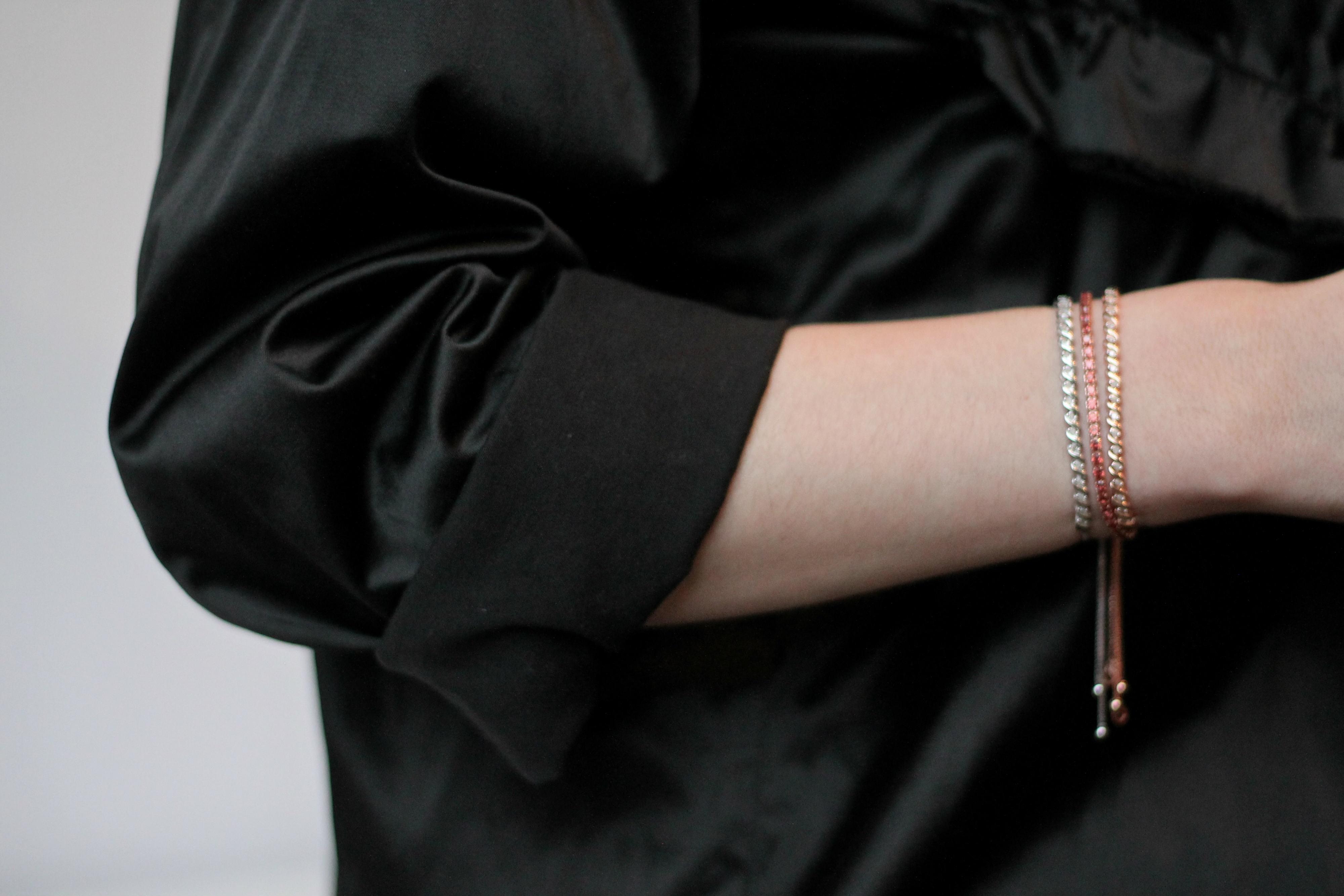 Diamond Bolo Bracelet Gift For Her Valentines Day Jewelry