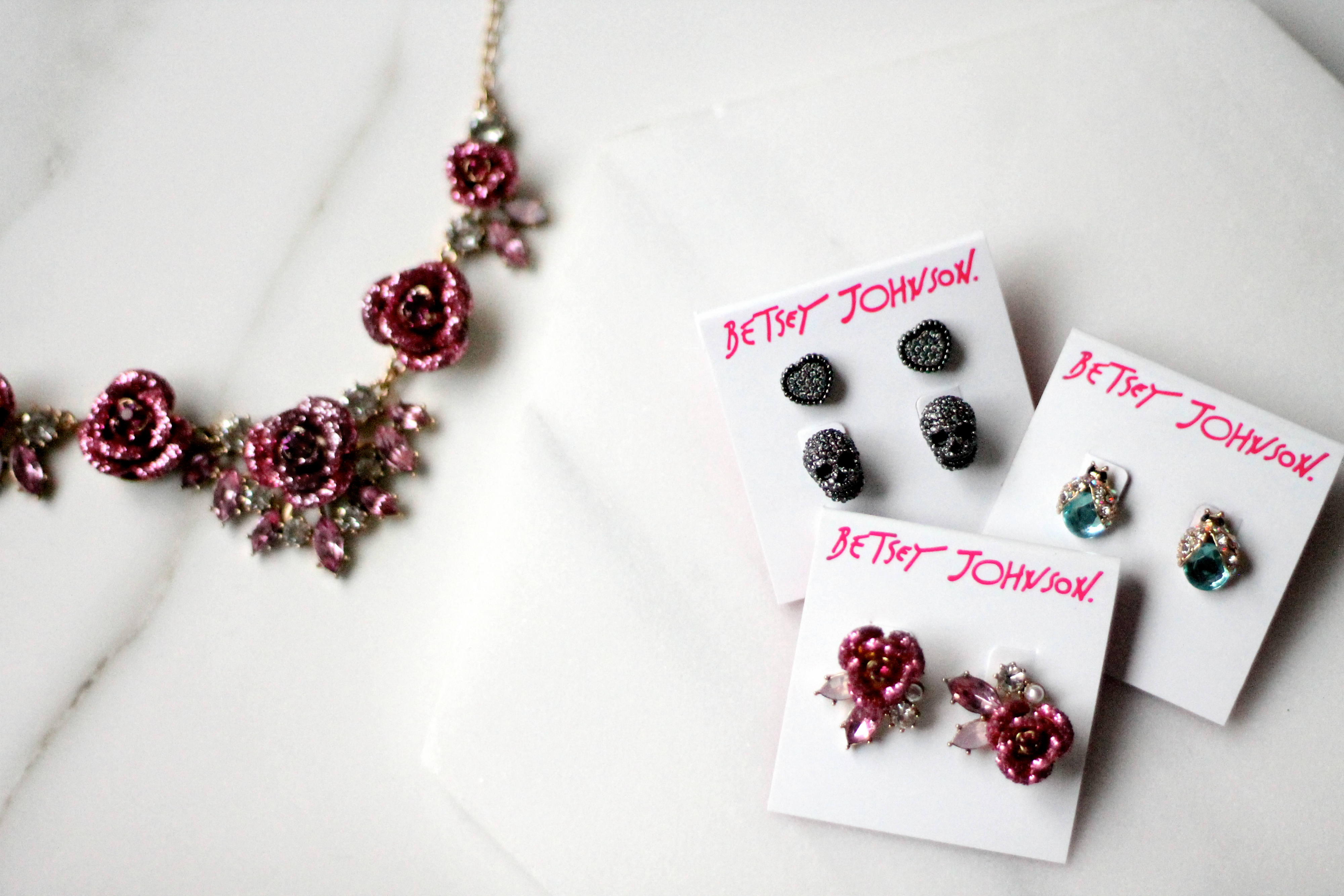 Betsey Johnson Jewelry Earrings and Necklace Arrive At Best Buy