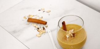 Pumpkin Vanilla Chai Smoothie with Vega One Protein Powder in Vanille Chai