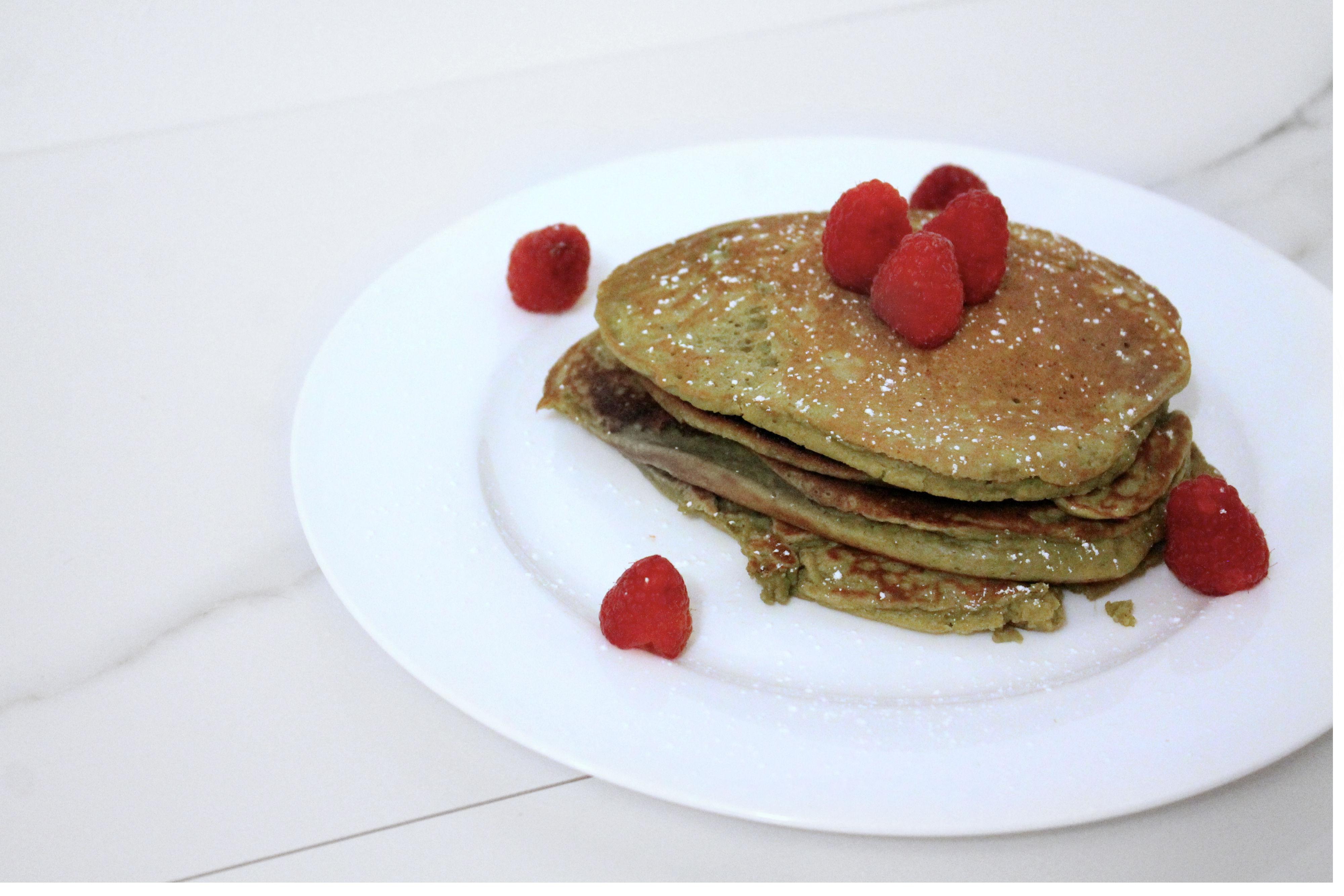 vega one vanilla chai protein pancakes for breakfast