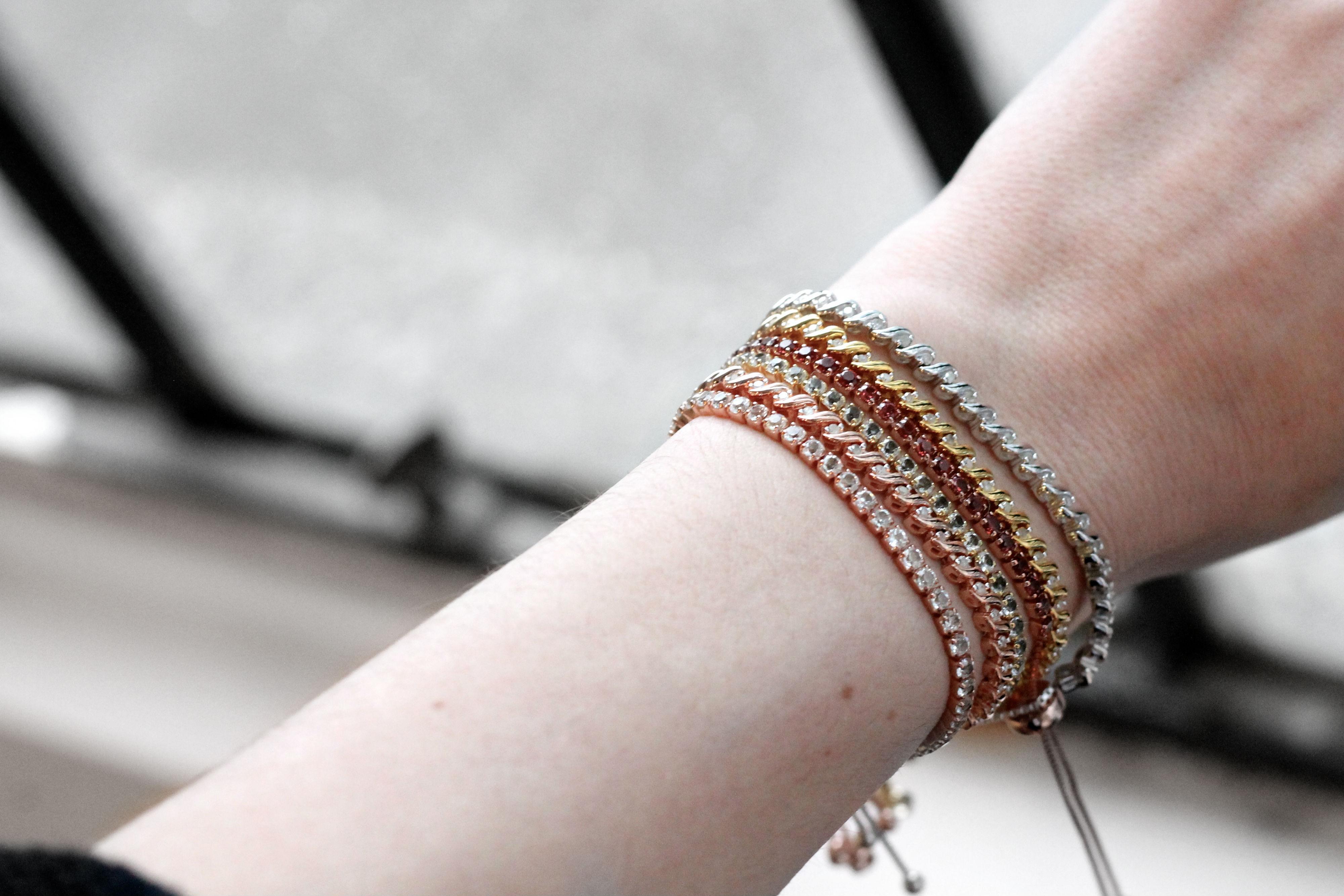 diamond bracelet gift for her valentines day sparkle