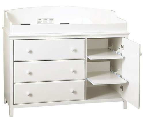 South Shore Cotton Candy Collection 3-Drawer Wood Changing Table