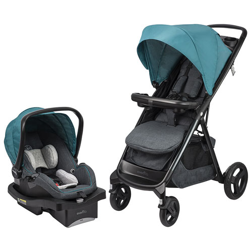 Evenflo Lux24 Travel System Standard Stroller with LiteMax 35 Infant Car Seat
