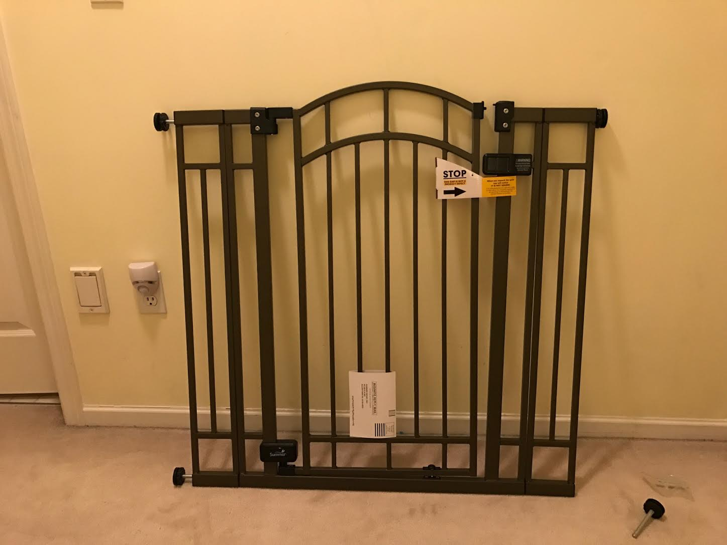 Summer Extra Tall baby gate assembled