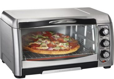 Toaster ovens for toasting, broiling, baking, and reheating