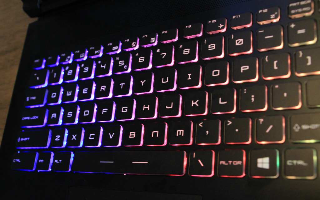 Eurocom Tornado F5 keyboard