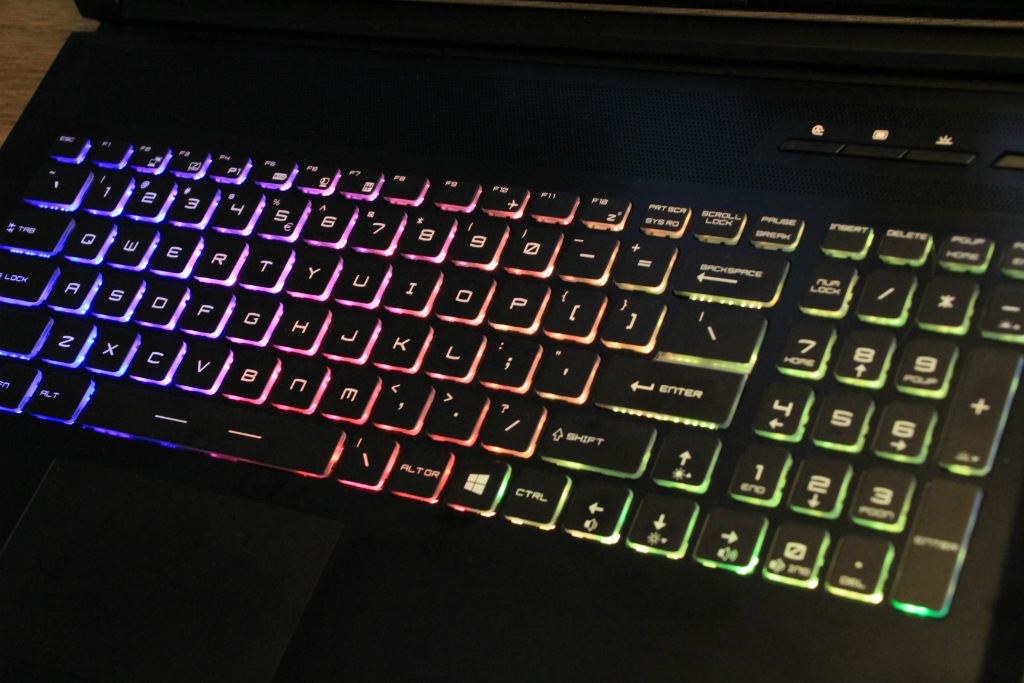 Eurocom Tornado F5 backlit keyboard