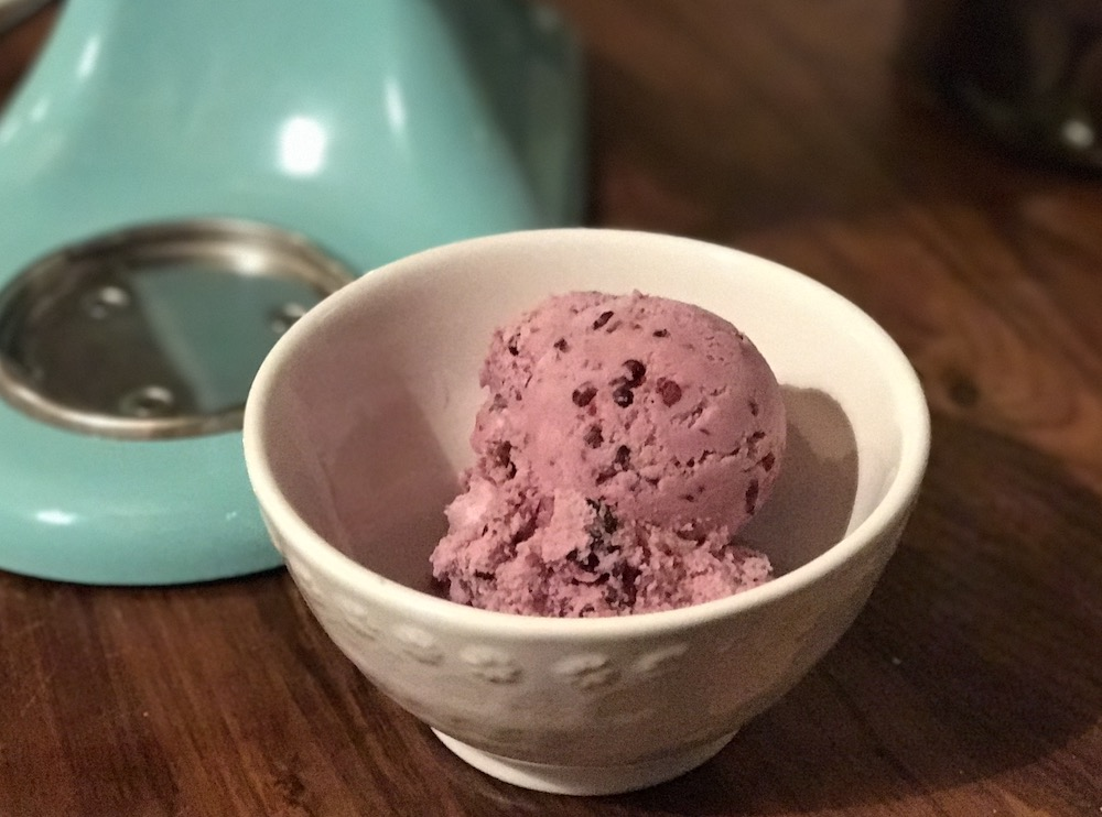 Kitchenaid ice cream maker attachment blackberry ice cream