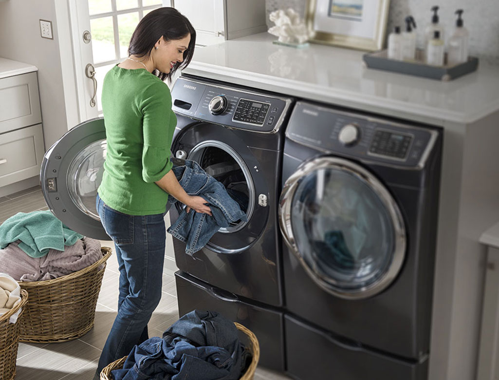 save time with large capacity laundry pair