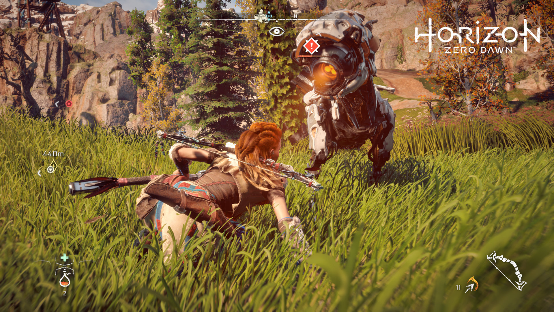 Horizon Zero Dawn stealth