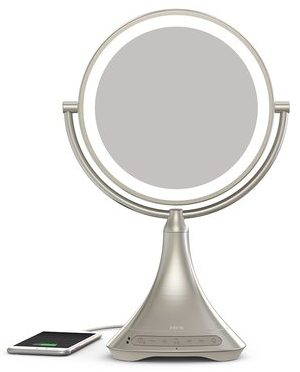 iHome vanity mirror with bluetooth and lights