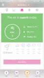 iBaby Airsense Air Monitor Ion Purifier - app screen superb air