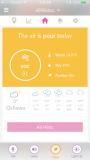 iBaby Airsense Air Monitor Ion Purifier - app screen poor air