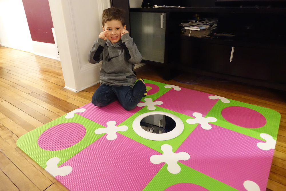 munchkin playmat posing