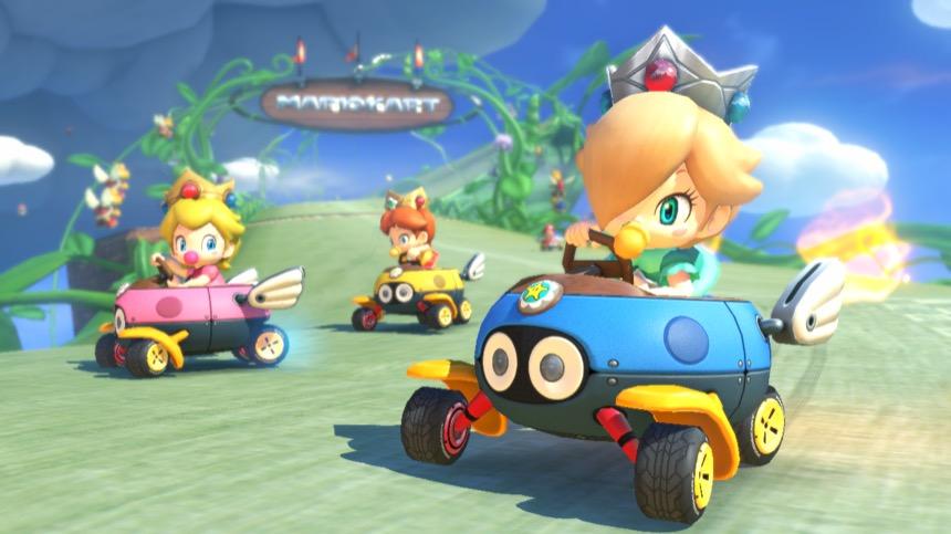 Mario Kart 8 Deluxe racing