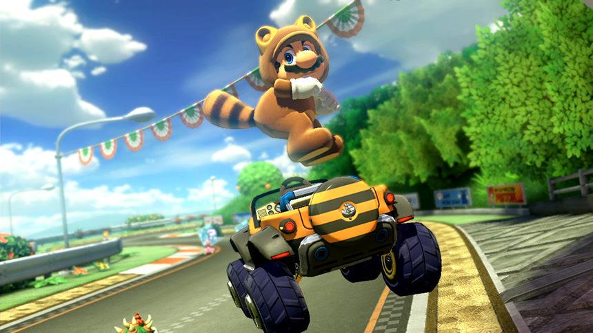 Mario Kart 8 Deluxe Tanooki Mario