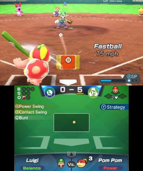Mario Sports Superstars baseball