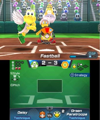 Mario Sports Superstars Baseball hitting
