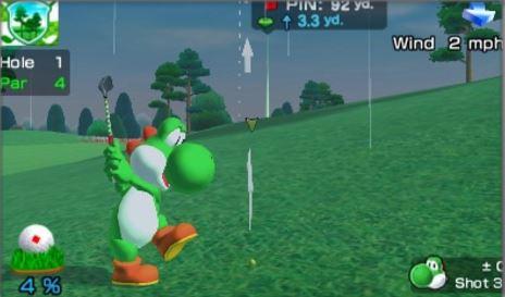Mario Sports Superstars golfing