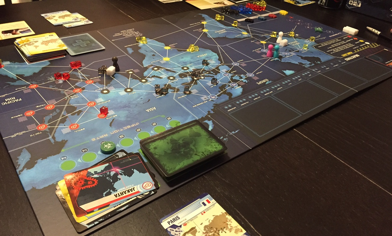 Opening shot of Pandemic Legacy Season 1