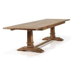 Reclaimed wood extendible dining table