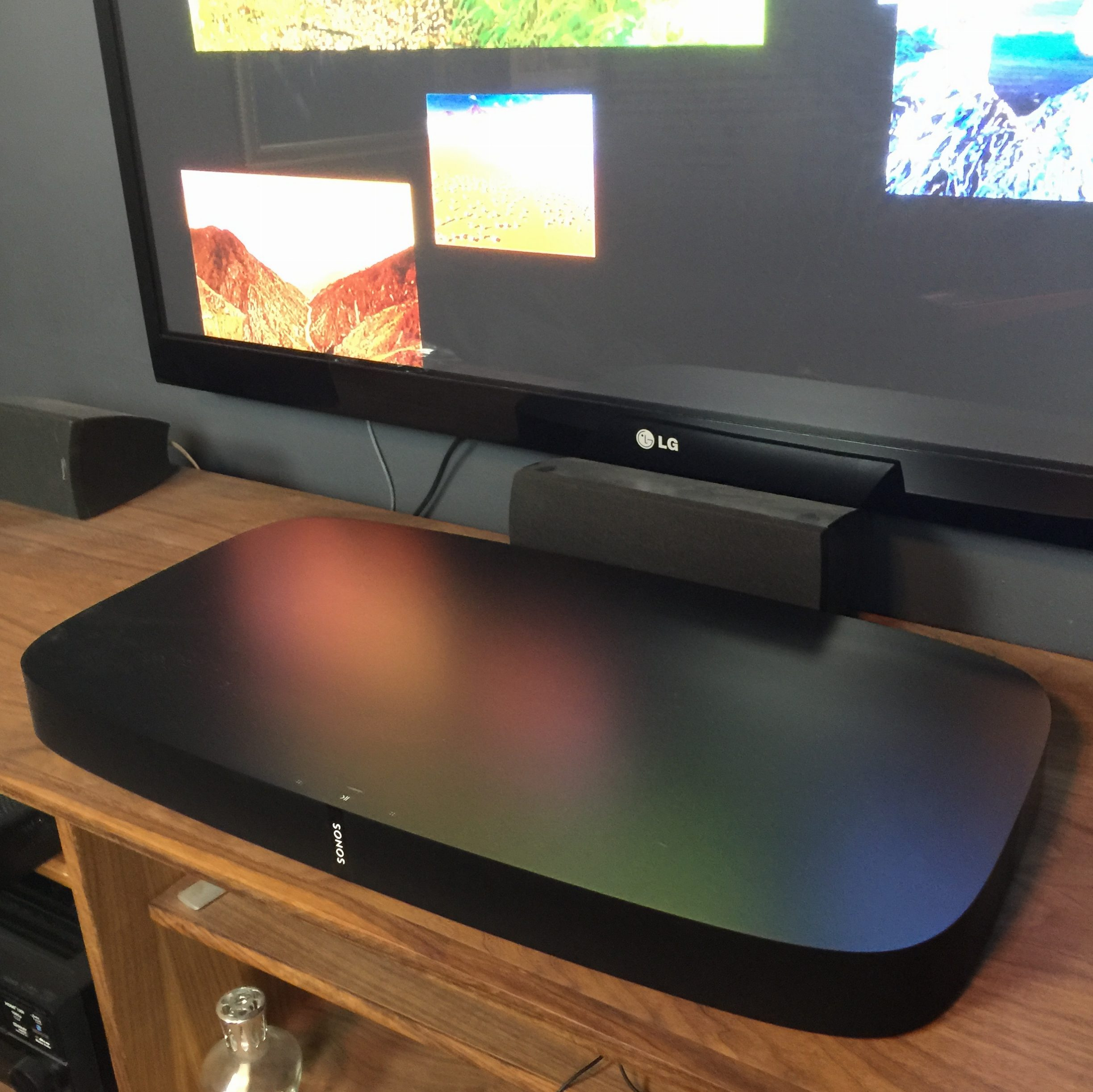 Your TV Will Sit On Top Of The Playbase, Or Straddle It, Depending How Itu0027s  Built.