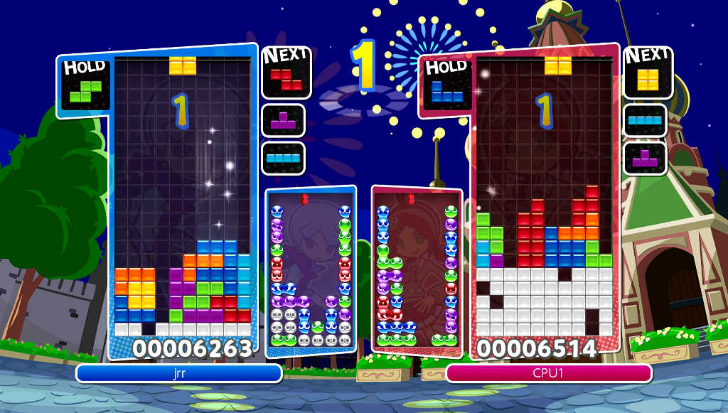 Puyo Puyo Tetris Party mode
