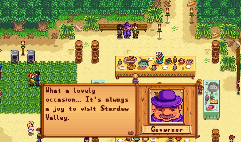 Stardew Valley meeting people