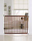 munchkin extending hardware mounted wood safety gate installed